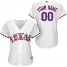 Women's Texas Rangers Customized White Cool Base Jersey