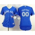 Women's Toronto Blue Jays Customized Royal Blue Cool Base Jersey