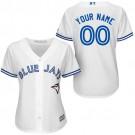 Women's Toronto Blue Jays Customized White Cool Base Jersey