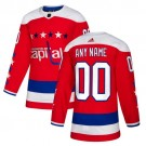 Women's Washington Capitals Customized Red Alternate Authentic Jersey