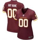 Women's Washington Football Team Customized Game Red Jersey