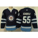Women's Winnipeg Jets #55 Mark Scheifele Navy Jersey