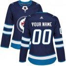 Women's Winnipeg Jets Customized Blue Authentic Jersey