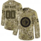 Women's Winnipeg Jets Customized Camo Authentic Jersey