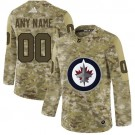 Women's Winnipeg Jets Customized Camo Fashion Authentic Jersey