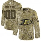 Youth Anaheim Ducks Customized Camo Fashion Authentic Jersey