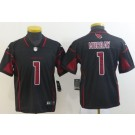 Youth Arizona Cardinals #1 Kyler Murray Limited Black Rush Color Jersey