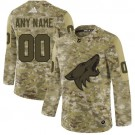 Youth Arizona Coyotes Customized Camo Authentic Jersey