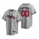 Youth Atlanta Braves Customized Gray Road 2020 Cool Base Jersey