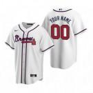 Youth Atlanta Braves Customized White 2020 Cool Base Jersey