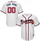 Youth Atlanta Braves Customized White Cool Base Jersey