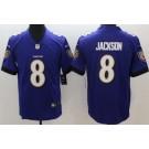 Youth Baltimore Ravens #8 Lamar Jackson Limited Purple Vapor Untouchable Jersey