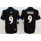 Youth Baltimore Ravens #9 Justin Tucker Limited Black Vapor Untouchable Jersey