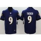Youth Baltimore Ravens #9 Justin Tucker Limited Purple Vapor Untouchable Jersey