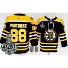 Youth Boston Bruins #88 David Pastrnak Black 2019 Stanley Cup Finals Jersey