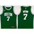 Youth Boston Celtics #7 Jaylen Brown Green Icon Swingman Jersey