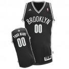 Youth Brooklyn Nets Customized Black Swingman Adidas Jersey