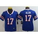 Youth Buffalo Bills #17 Josh Allen Limited Blue Vapor Untouchable Jersey