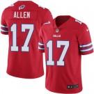 Youth Buffalo Bills #17 Josh Allen Limited Red Rush Jersey