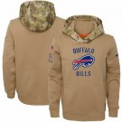 Youth Buffalo Bills Khaki 2019 Salute to Service Therma Printed Pullover Hoodie