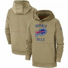 Youth Buffalo Bills Tan 2019 Salute to Service Sideline Therma Printed Pullover Hoodie