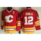 Youth Calgary Flames #12 Jarome Iginla Red Throwback Jersey