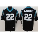 Youth Carolina Panthers #22 Christian McCaffrey Limited Black Vapor Untouchable Jersey