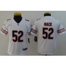 Youth Chicago Bears #52 Khalil Mack Limited White Vapor Untouchable Jersey