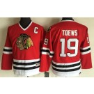 Youth Chicago Blackhawks #19 Jonathan Toews Red Throwback Jersey