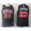 Youth Chicago Bulls #23 Michael Jordan Black Icon Swingman Jersey