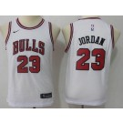 Youth Chicago Bulls #23 Michael Jordan White Icon Swingman Jersey