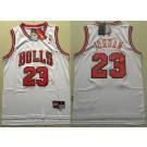 Youth Chicago Bulls #23 Michael Jordan White Throwback Swingman Jersey