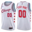 Youth Chicago Bulls Customized White City Icon Swingman Nike Jersey