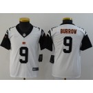 Youth Cincinnati Bengals #9 Joe Burrow Limited White Rush Color Jersey