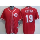 Youth Cincinnati Reds #19 Joey Votto Red Cool Base Jersey