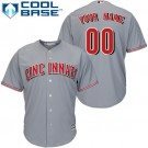 Youth Cincinnati Reds Customized Gray Cool Base Jersey