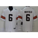 Youth Cleveland Browns #6 Baker Mayfield Limited White 2020 Vapor Untouchable Jersey
