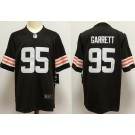 Youth Cleveland Browns #95 Myles Garrett Limited Brown 2020 Vapor Untouchable Jersey