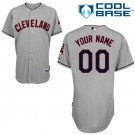 Youth Cleveland Indians Customized Gray Cool Base Jersey