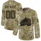 Youth Colorado Avalanche Customized Camo Authentic Jersey