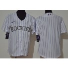 Youth Colorado Rockies Blank White Stripes 2020 Cool Base Jersey