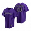 Youth Colorado Rockies Customized Purple Alternate 2020 Cool Base Jersey