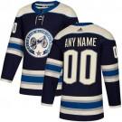 Youth Columbus Blue Jackets Customized Navy Alternate Authentic Jersey