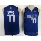Youth Dallas Mavericks #77 Luka Doncic Blue Icon Sponsor Swingman Jersey