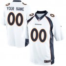 Youth Denver Broncos Customized Game White Jersey