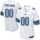 Youth Detroit Lions Customized Game White Jersey