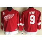 Youth Detroit Red Wings #9 Gordie Howe Red Throwback Jersey
