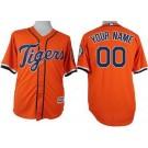 Youth Detroit Tigers Customized Orange Cool Base Jersey