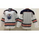 Youth Edmonton Oilers Blank White Jersey