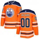 Youth Edmonton Oilers Customized Orange Authentic Jersey